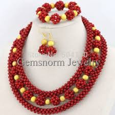 beaded coral necklace images 2017 red coral bead sets jewelry latest design nigerian beads jpg