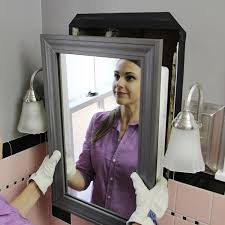 Bathroom Cabinets New Recessed Medicine Cabinets With Lights Install A Mirrored Medicine Cabinet And Vanity Light