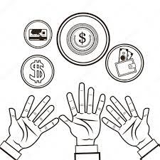 hand money financial sketch design u2014 stock vector jemastock