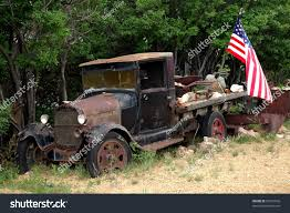 Vintage Ford Truck Images - old vintage ford truck american flag stock photo 26501656