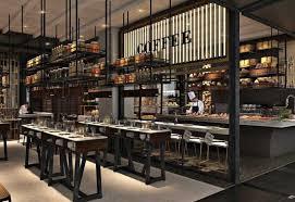 Luxury Restaurant Design - kitchen outstanding restaurant open kitchen design restaurant