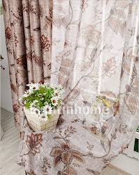Shabby Chic Floral Curtains by Brown Floral Shabby Chic Blackout Craftsman Style Curtains