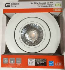 commercial electric 6 in recessed gimbal led trim