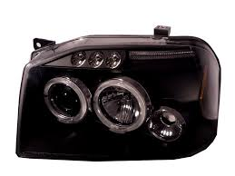 nissan frontier halo headlights frontier d22 2001 2004 led halo projector headlight black us for