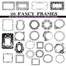 printable art deco borders frame clip art set border 26 images fancy pack art deco