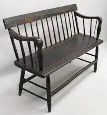 Antique Windsor Bench Furniture Windsor Bench Rod Back Tablet Crest 12 Spindles