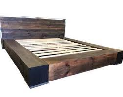 Wood Bed Platform Reclaimed Wood Bed Canopy Bed Storage Bed Platform Bed