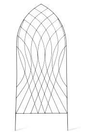 Support For Climbing Plants - barrington arch trellis raw metal garden trading