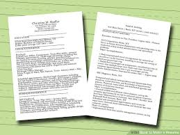 Where Can I Make A Resume How Do You Make A Resume For A Job Write Professional Job Resume