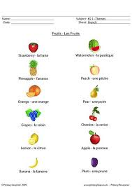 french worksheets fruit french pinterest french worksheets