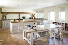 english country style kitchen farmhouse with traditional islands