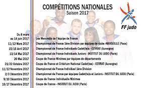 Calendrier Fdration Franaise De Le Calendrier 2017 De La Fédération Française De Judo
