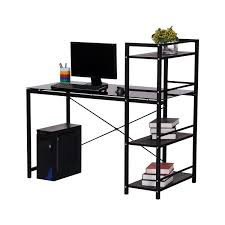 Pc Schreibtisch Mit Aufsatz Homcom Tisch Regal Computertisch Schreibtisch Arbeitstisch Pc