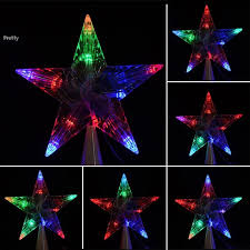 cheap led indoor outdoor christmas tree topper star lights lamp