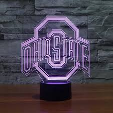 ohio state neon light lightfurnitures ohio state logo 3d l night 7 color change best