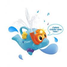 si e de bain vtech aldo le dauphin à jets d eau jouets de bain 1er âge vtech