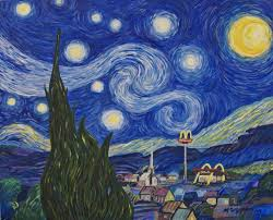 artfinder open all starry night by michael griesgraber parody painting of van gogh s famous starry night