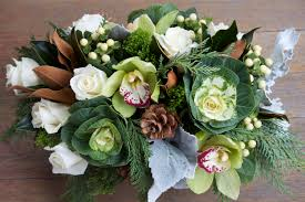 holiday centerpiece trends green and gray u2014 j morris flowers