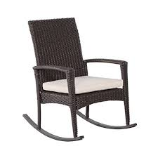 Rocking Recliner Garden Chair Outsunny Rattan Rocking Chair Rocker Garden Furniture Seater Patio