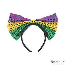 jumbo mardi gras jumbo sequin mardi gras bow headbands purple gold green set of 2