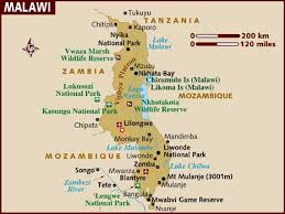 africa map malawi map of malawi