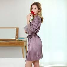 robe de chambre satin robe de chambre satin violet pour femme robe de chambre satin