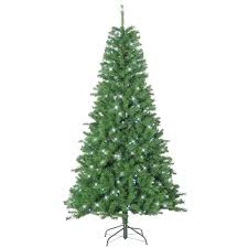 sterling 7 5 ft pre lit barrington pine christmas tree with led