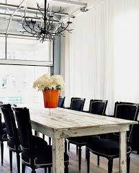 Black Dining Table Design Ideas - White and black dining table