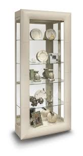 Curio Cabinets Richmond Va Curio Cabinet In Ivory White Bi Cast Leather By Philip Reinisch