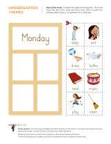 days of the week worksheets sparks