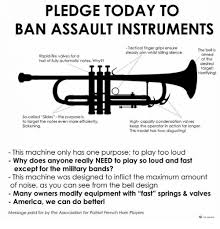 Trumpet Player Memes - pledge today to ban assault instruments tactical finger grips ensure