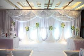 wedding backdrop modern 2018 3 6 m silk silk wedding curtain background white