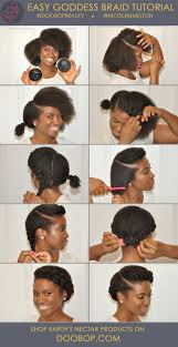 black hair goddess style easy short natural hair how to goddess braid with earth s nectar