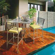 High Patio Table And Chairs Hi Top Outdoor Furniture Bar Patio Furniture And Counter