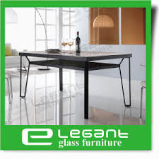 Tempered Glass Dining Table China Black Painted Tempered Glass Dining Table With Stainless