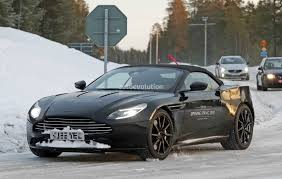 2018 aston martin db11 v 2018 aston martin db11 volante spied shows modified aeroblade