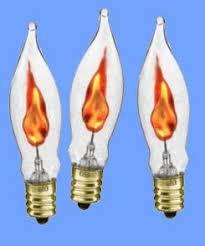 light bulbs that flicker like candles amazon com flicker flame 1 watt replacement light bulbs c7 pack of