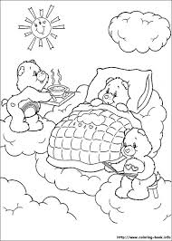 pinned care bears coloring picture