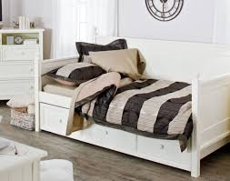Daybed With Mattress Included Daybed Cozy Dark Pergo Flooring With White Ikea Nightstand And
