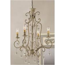 shabby vintage metal crystal chandelier electric antique french