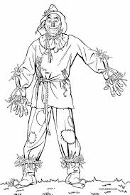 scarecrow wizard oz kids printable coloring pages fun