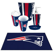 Sports Bathroom Accessories by New England Patriots Nfl 6pc Bath From For Die Hard Fans For