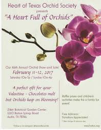 native plant society of texas events heart of texas orchid society
