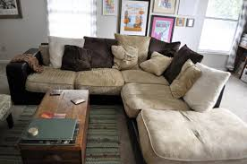 Comfy Sectional Sofa Stunning Vintage Living Room With Oversized Most Comfortable