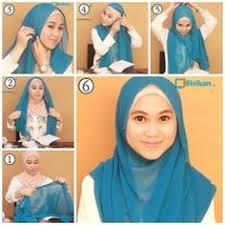 tutorial memakai jilbab paris yang simple cara memakai jilbab segi empat yang simple untuk sehari hari