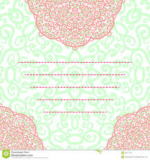 vector wedding invitation card abstract floral round lace ornament