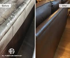 Leather Sofa Discoloration Gallery Before After Pictures All Furniture Services