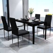 kitchen furniture set b contemporary dining set with table and 4 chairs black kitchen