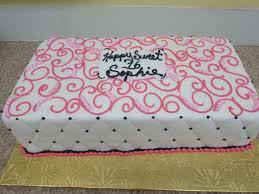 sweet 16 sheet cake sweet