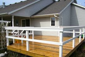 sunny l shaped deck new prairie construction